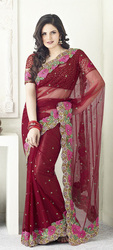 Designer saree of zahara khan's catalog